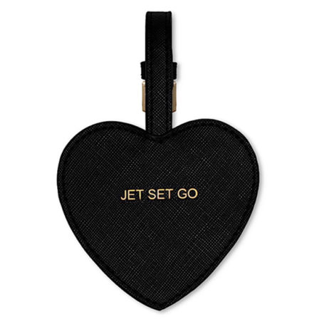 Katie Loxton Jet Set Go Luggage Tag Black