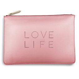 Katie Loxton Love Life Polka Dot Pouch Pale Pink