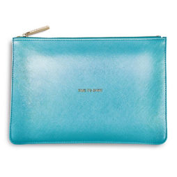 Katie Loxton Time To Shine Pouch Metallic Blue