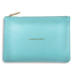 Katie Loxton Adventure Awaits Pouch Metallic Aqua