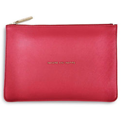 Katie Loxton Imagine And Inspire Pouch Metallic Watermelon - EOL