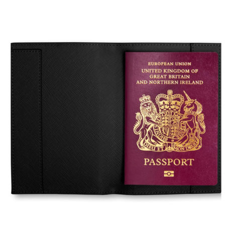 Katie Loxton JET SET GO Passport Holder Black - EOL