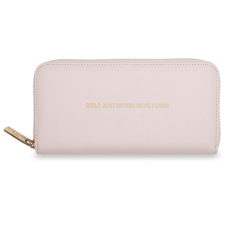 Katie Loxton Girls Just Wanna Have Funds Purse Pale Pink