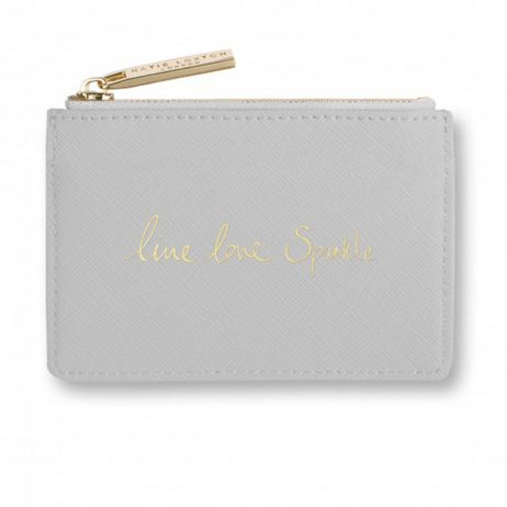 Katie Loxton Card Holder Live Love Sparkle Grey KLB277 EOL