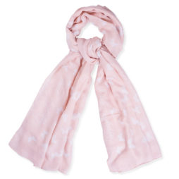 Katie Loxton Live Joyfully Light Pink Scarf