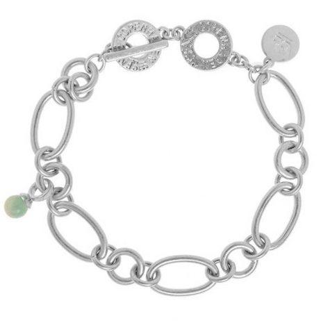 Sence Copenhagen Matt Silver Bracelet with Amazonite