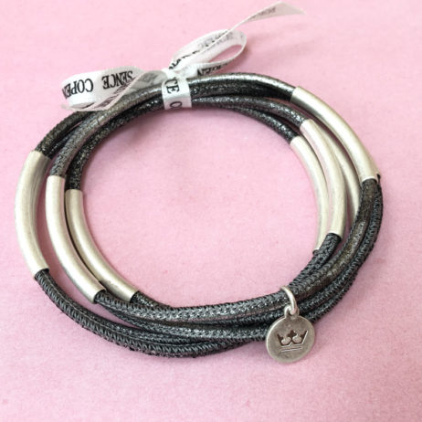 Sence Copenhagen Urban Gipsy Camouflage Silver Leather Bracelet - EOL