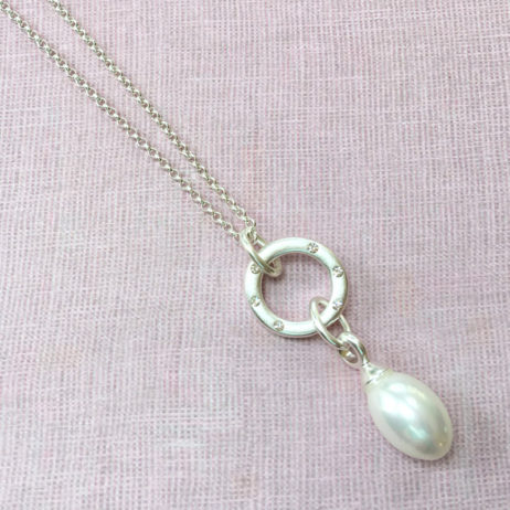 Sence Copenhagen Silver La Perla Mother Of Pearl Necklace