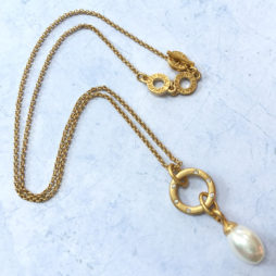 Sence Copenhagen Gold La Perla Mother Of Pearl Necklace