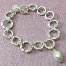 Sence Copenhagen Silver La Perla Mother Of Pearl Bracelet