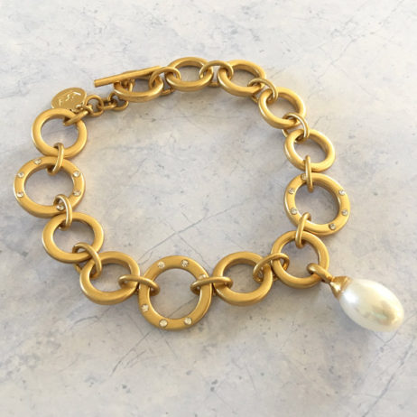 Sence Copenhagen Gold La Perla Mother Of Pearl Bracelet