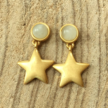 Sence Copenhagen Gold Lagoon Earrings with Aquamarine - eol