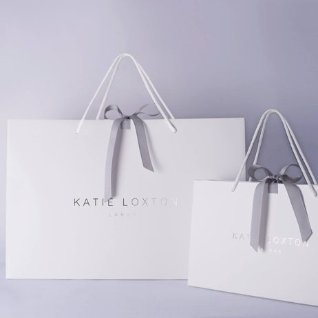 Katie Loxton Luggage Tag Yay For Vacay Metallic Silver