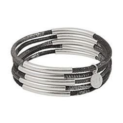 Sence Copenhagen Urban Gipsy Camouflage Silver Leather Bracelet