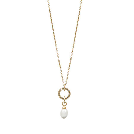Sence Copenhagen Gold La Perla Mother Of Pearl Necklace