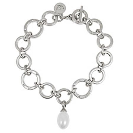 Sence Copenhagen Silver La Perla Mother Of Pearl Bracelet - EOL