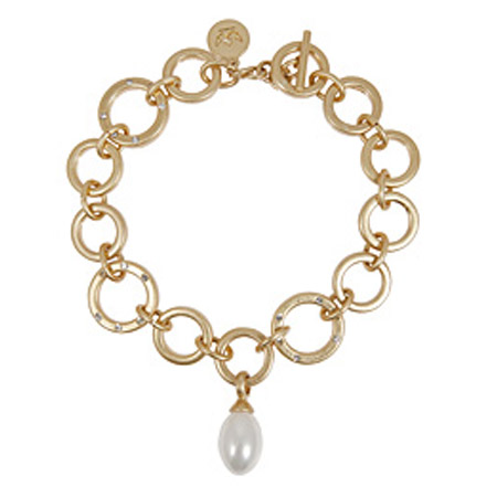Sence Copenhagen Gold La Perla Mother Of Pearl Bracelet
