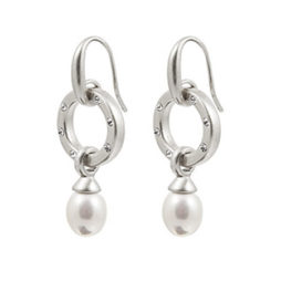 Sence Copenhagen Silver La Perla Mother Of Pearl Drop Earrings