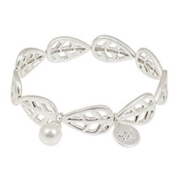 Sence Copenhagen Silver Leaf with Mother of Pearl Bracelet