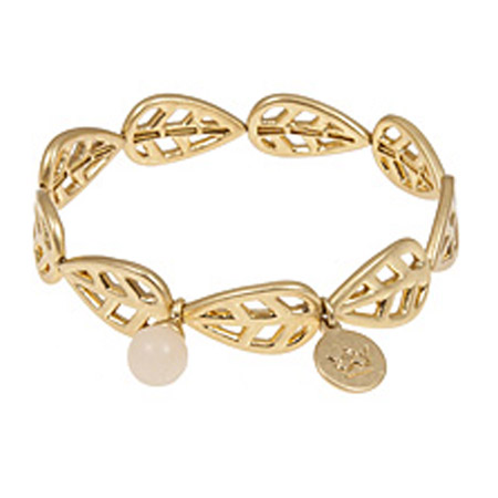 Sence Copenhagen Gold Leaf with Rose Aventurine Bracelet