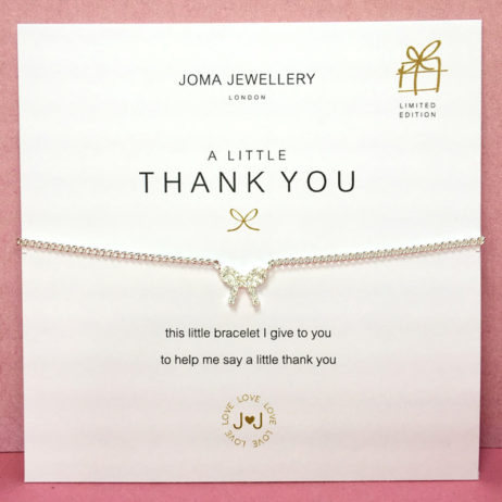 Joma Jewellery a Little Thank You Belle Pave Bow Silver Bracelet 1075
