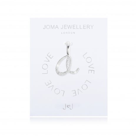 Joma Jewellery #MYJOMA Pave Alphabet Charms Silver
