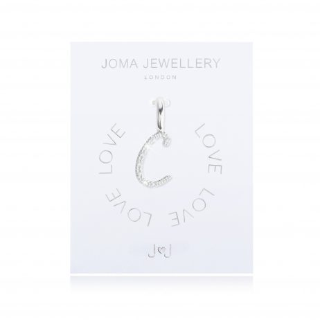 Joma Jewellery #MYJOMA Pave Alphabet Charms Silver *