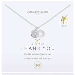 Joma Jewellery a little Thank You Silver Pendant Necklace 594