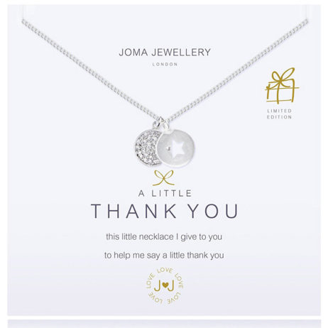 Joma Jewellery a little Thank You Silver Pendant Necklace