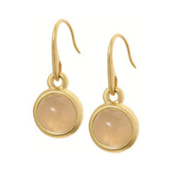 Sence Copenhagen Signature Earrings Rose Quartz Worn Gold