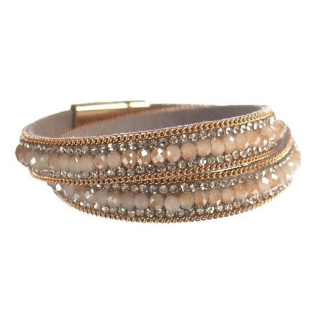 Hot Tomato Jewellery Champagne Crystal Wrap Bracelet