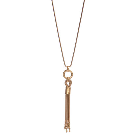 Hot Tomato Jewellery Long Gold Tassel Necklace