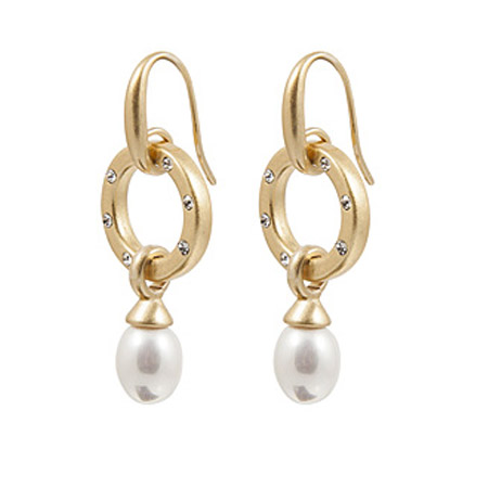 Sence Copenhagen Gold La Perla Mother Of Pearl Drop Earrings - EOL