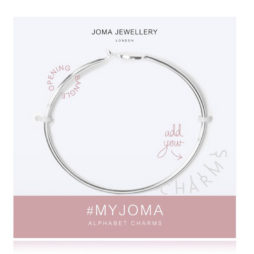 Joma Jewellery #MYJOMA Alphabet Base Silver Bangle 2143
