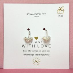 Joma Jewellery a little With Love Silver Heart Sparkle Earrings 673