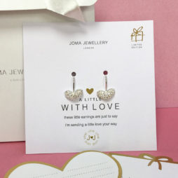 Joma Jewellery a little Love Delilah Pave Heart Silver Drop Earrings 961