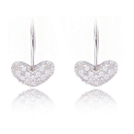 Joma Jewellery a little With Love Silver Heart Sparkle Earrings 673