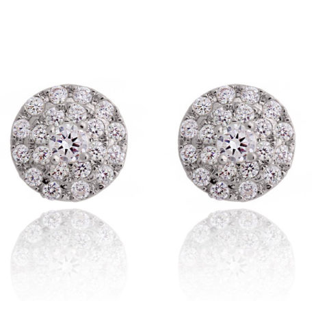 Joma Jewellery a little Thank You Silver Pave Disc Thea Earrings 880