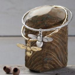 Danon Jewellery Honey Bee Bangle Silver