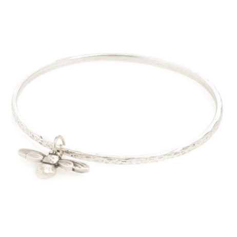 Danon Jewellery Mini Honey Bee Bangle Silver