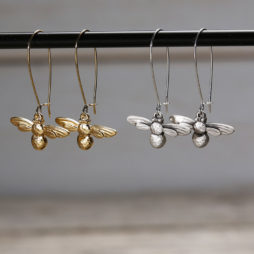 Danon Jewellery Mini Bee Long Drop Earrings