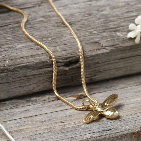 Danon Jewellery Mini Honey Bee Necklace Gold
