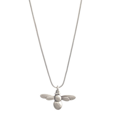 Danon Jewellery Long Honey Bee Necklace Silver