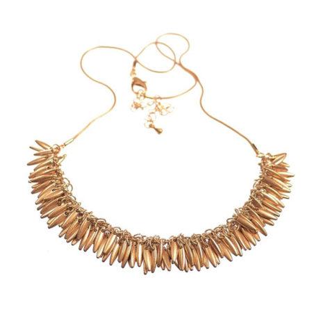 Hot Tomato Jewellery Gold Jasmine Fringe Necklace