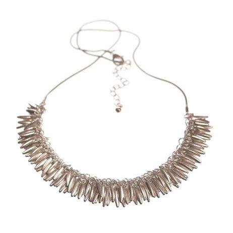 Hot Tomato Jewellery Silver Jasmine Fringe Necklace