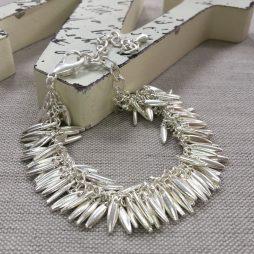 Hot Tomato Jewellery Silver Jasmine Fringe Bracelet