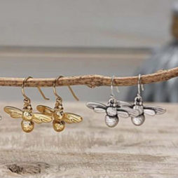 Danon Jewellery Silver Mini Bee Earrings *
