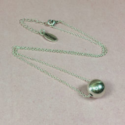Hultquist Jewellery Silver Ball New Nordic Short Necklace 1284s