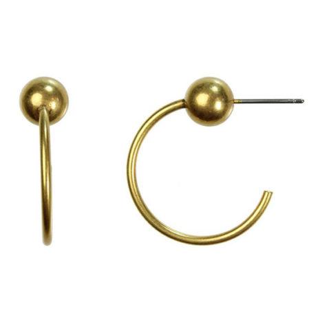 Hultquist Jewellery Gold Ball New Nordic Hoop Earrings