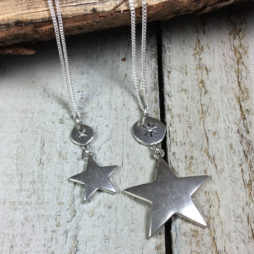 Hultquist Jewellery Moon and Stars Short Silver Necklace